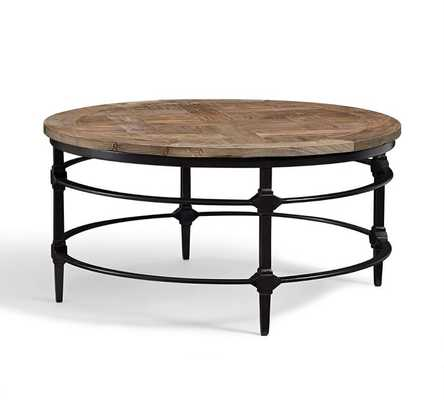 Parquet Reclaimed Wood Round Coffee Table - Pottery Barn