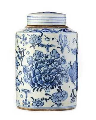 Cylindrical Small Floral Tea Jar - Caitlin Wilson