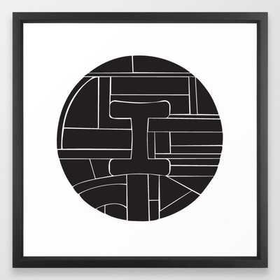 Circle I Framed Art Print - Society6