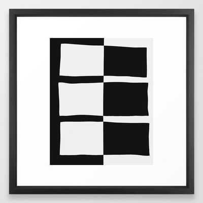 Piano Plays Framed Art Print - Society6