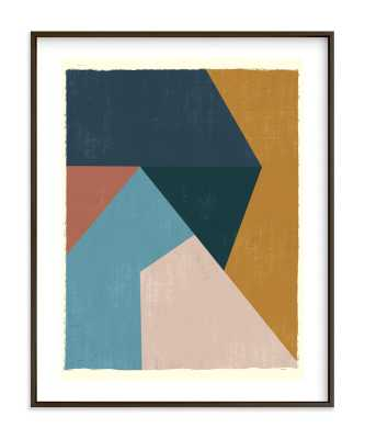 Geo Abstract Art Print - matte black frame, 16x20 - Minted
