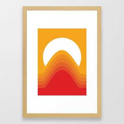 Desert Sunrise Framed Art Print - Society6