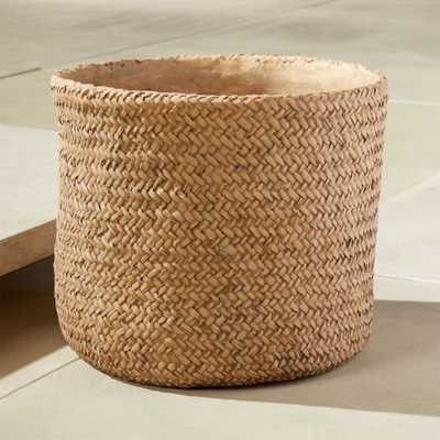 Cement Basket Large Planter - CB2