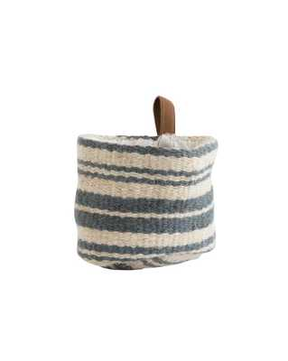 JUTE STRIPED WALL BASKET - SMALL - McGee & Co.