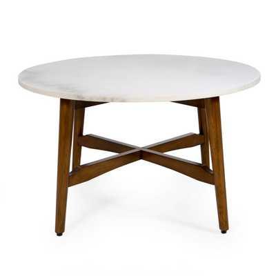 Belham Living James Round Mid Century Modern Marble Coffee Table - Hayneedle