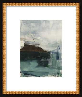 """Ocean Abstract - 11x14"""" - Matte Black Metal Frame with Matte - Artfully Walls"""