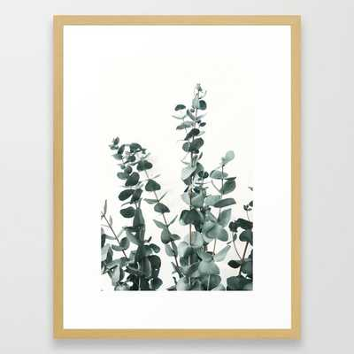 """Eucalyptus Leaves Framed Art Print-  20"""" X 26"""" - Conservation Natural Frame - Society6"""