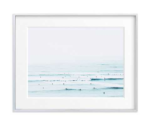 """the sunday blues - 7"""" x 5"""" - Brushed Silver Frame with Matte - Minted"""