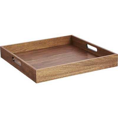 Square walnut tray - CB2