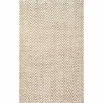 Norcross Chevron Jute/Sisal Ivory Area Rug - Wayfair
