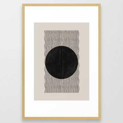 """Woodblock Paper Art Framed Art - 26""""x38"""" - Society6"""