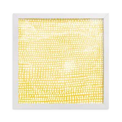 Dance - Sunshine - 8x8 - white wood frame - Minted