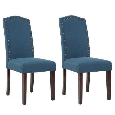 Mourya Upholstered Dining Chair (Set of 2) - Wayfair