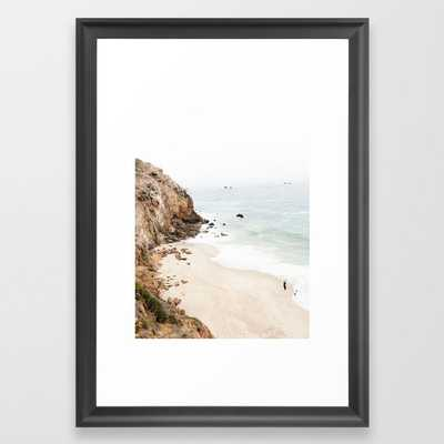 Malibu California Beach Framed Art Print - Society6