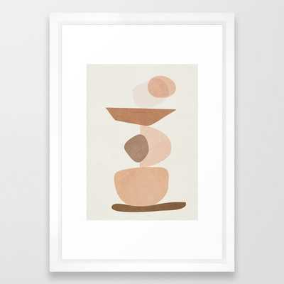 "Balancing Elements II Framed Art Print, Medium 15"" x 21"",vector white frame - Society6"