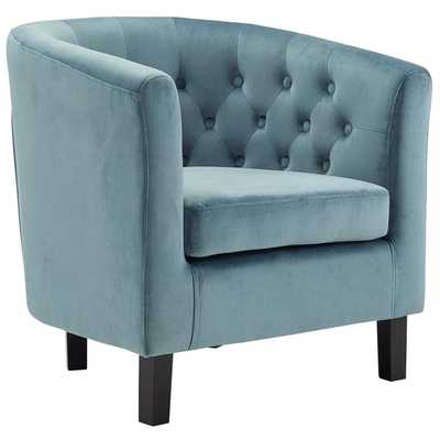 PROSPECT VELVET ARMCHAIR IN SEA BLUE - Modway Furniture