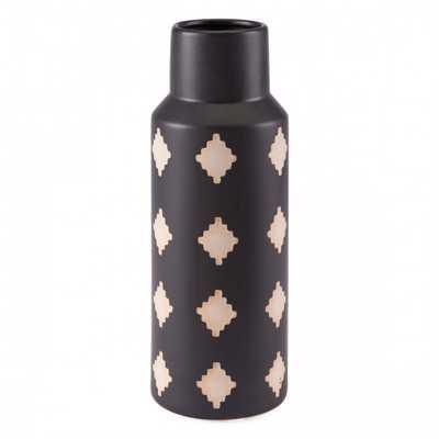 Pampa Bottle Md Black & Beige - Zuri Studios