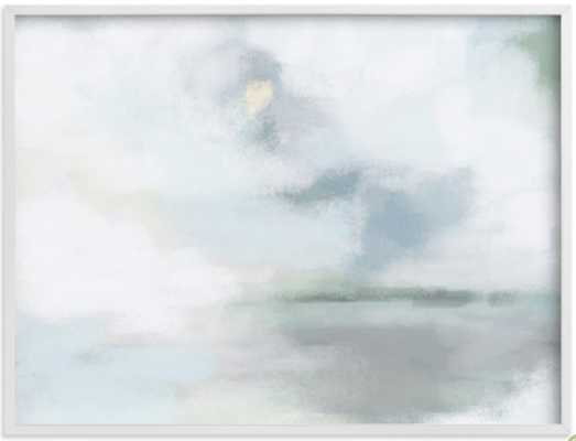 "Monday Blues - 40 x 30"" - White Frame - Minted"