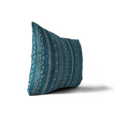 Adeline Mlstana Cotton Lumbar Pillow_Teal - AllModern