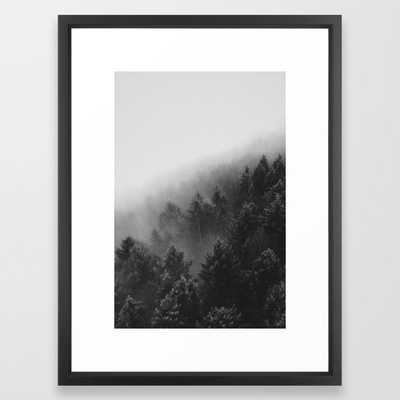 Misty Forest II Framed Art Print, 20 x 26 - Society6