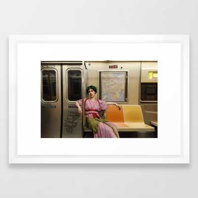 Ladies Who Commute III Framed Art Print by Side Dimes - Society6