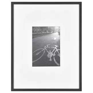 "11"" x 14"" Matted For 5"" x 7"" Thin Metal Gallery Frame Black - Project 62™ - Target"