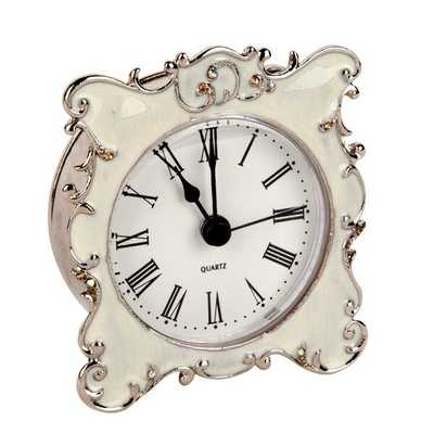 Ornate Edge Metal Mini Tabletop Clock - Wayfair