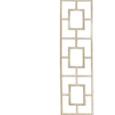 "Ballard Designs Embroidered Square Trellis Panels - Set of 2 Natural 96"" - Ballard Designs"