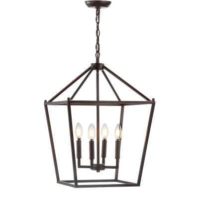 Maggiemae 4 - Light Lantern Geometric Pendant - Wayfair