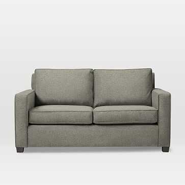 """Henry 76"""" Basic Queen Sleeper Sofa, Twill, Gravel - West Elm"""