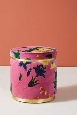 Velvet Floret Stool - Anthropologie