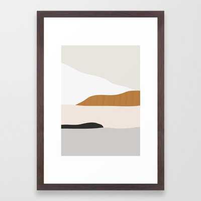 "Minimal Art Landscape 2 Framed Art Print, 15"" x 21"", conservation walnut frame - Society6"