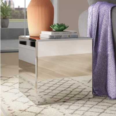Charee Mirrored Cube End Table - Wayfair