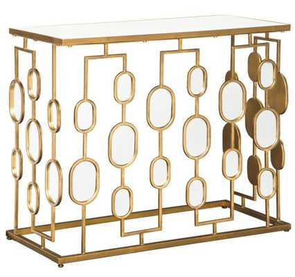Signature Design by Ashley Majaci 36 in. Mirrored Console Table - Hayneedle