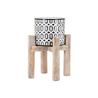 Beth Kushnick Small Planter on Stand - Mercer Collection