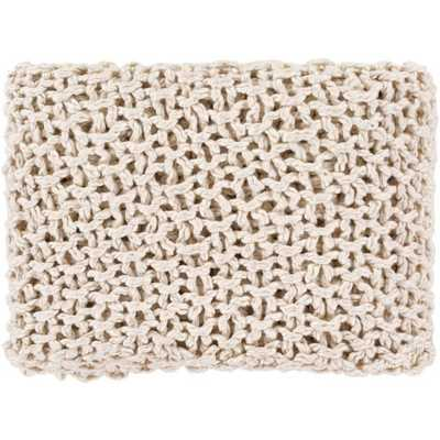 Cozy Knit Throw, Natural - Havenly Essentials