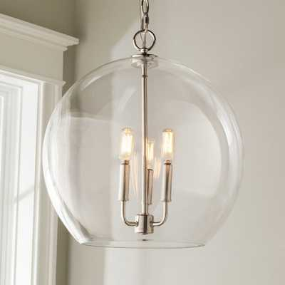 CLEAR GLASS SPHERE CHANDELIER - Shades of Light