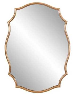 24 in. x 36 in. Gold Ornate Wall Accent Mirror - Home Depot