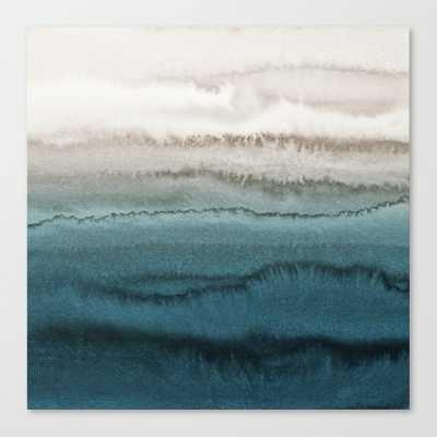 WITHIN THE TIDES - CRASHING WAVES TEAL Art Print - Society6