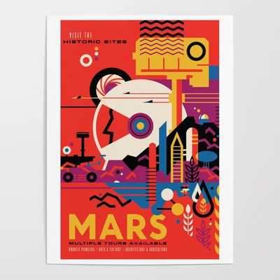 NASA Retro Space Travel Poster #9 18 x 24'' Framed Art - Society6