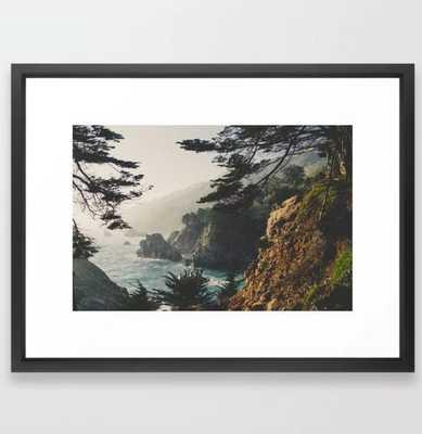 """Big Sur Framed Art Print - 20x26"""" - Vector Black - Society6"""
