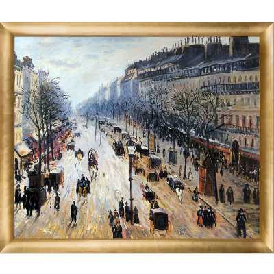 Boulevard Montmartre on a Winter Morning' by Camille Pissarro Framed Painting - Wayfair