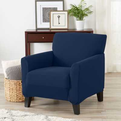 Solid Super Soft Jersey Knit Box Cushion Armchair Slipcover - Wayfair