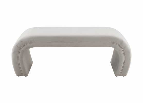 Cassandra Bench, Light Grey - Studio Marcette