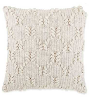 Asher Wishbone Square Throw Pillow in Natural - Bed Bath & Beyond