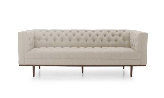 Beige Welles Mid Century Modern Sofa - Cody Sandstone - Coffee Bean - Joybird