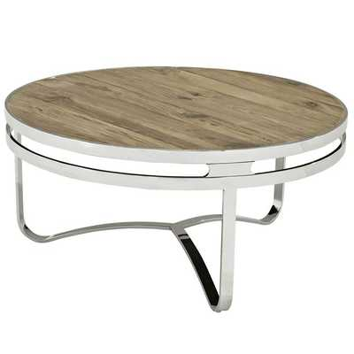 PROVISION WOOD TOP COFFEE TABLE IN BROWN - Modway Furniture