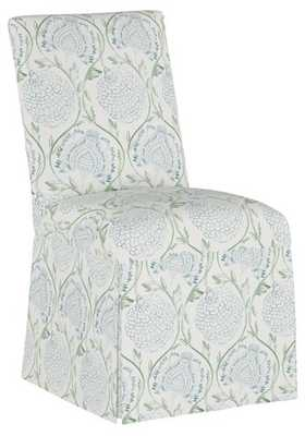 Owen Slipcover Side Chair, Floral Sage - One Kings Lane