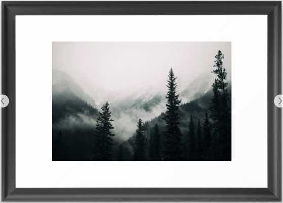 Over the Mountains and trough the Woods - Forest Nature Photography Framed Art Print - Society6