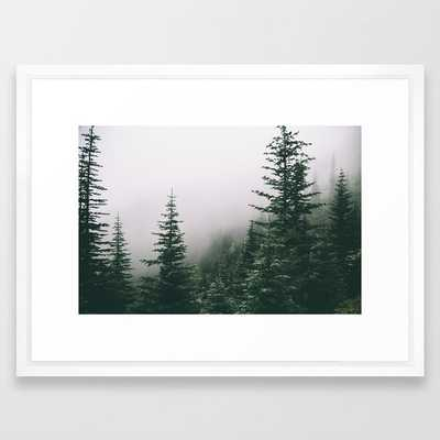 "Moody Forest Framed Art Print by Hannah Kemp- 20"" X 26"" - FRAME Vector White - Society6"